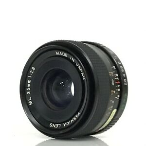Yashica-ML-35mm-f2-8-Wide-Angle-Prime-Lens-C-Y-Mount-aus-Japan-KC