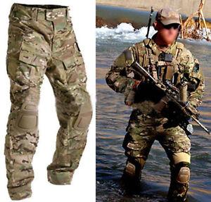 Airsoft-Combat-BDU-Trousers-Emerson-G3-Tactical-Pants-amp-Knee-Pads-Multicam-MC
