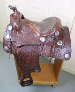 """14"""" F.O.BAIRD Western SADDLE 1947 Very Rare               Highly Collectable"""