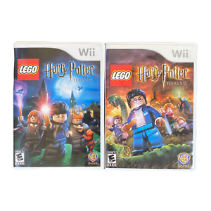 Lego-Harry-Potter-Years-1-4-and-Years-5-7-Nintendo-Wii-Game-Lot-Bundle
