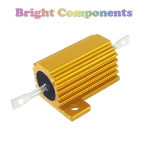 25 W Aluminio revestido resistor de la energía 1st Class Post valores en la gama 0,1 R - 10.000