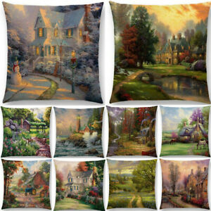 Scenery-Country-Sofa-Decor-Pillow-Case-Cotton-Linen-Throw-Cushion-Cover-Gift