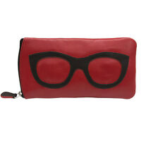 Womens Leather Eyeglass Case Fun Fashion Colors