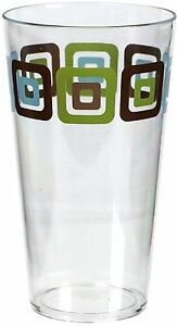 Corelle Coordinates Squared Acrylic Glass 19-Ounce, Set of 6 Drink-ware Sets