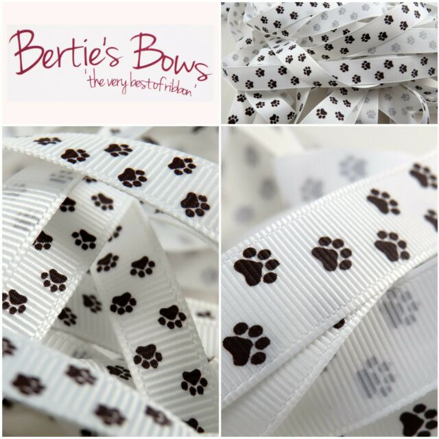 Berties Bows Happy Easter 16mm Ivory Grosgrain Ribbon on a 3m Roll