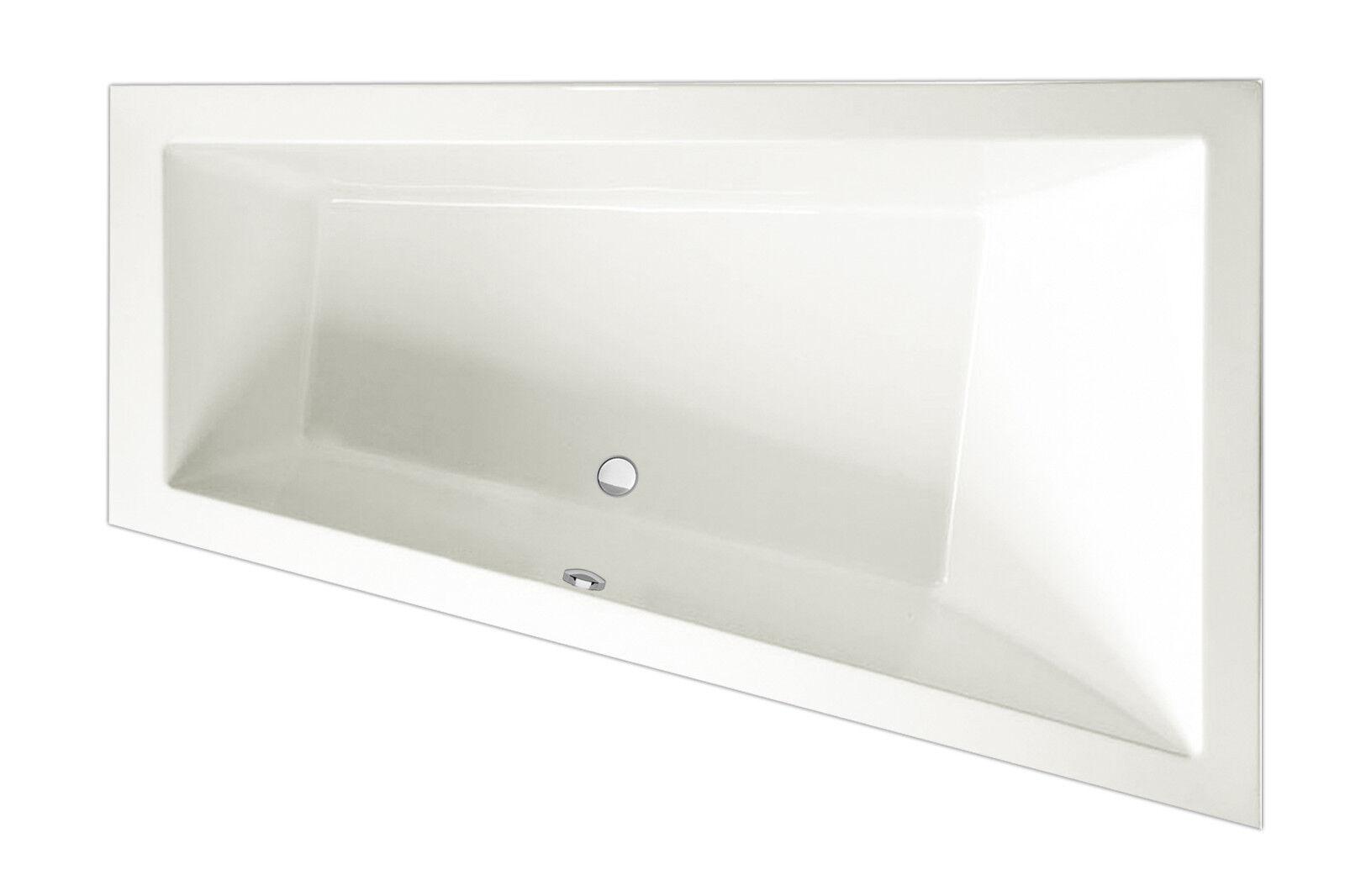 Exclusive Line Raumsparbadewanne 150 x 100 x 50 cm links, Farbe weiß, Acryl