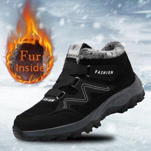 Nieve-Invierno-Botas-Senderismo-Zapatos-De-Trabajo-De-Piel-Calido-Interior-Deportes-al-Aire-Libre
