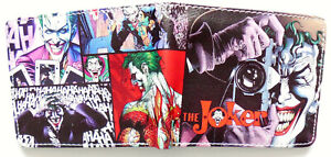 Cartoon-Die-Joker-Batman-Brieftasche-ID-Fenster-2-Kreditkarte-Slot-Zip-Coin-Pocket
