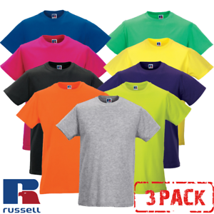3-PACK-Russell-MEN-039-S-T-SHIRT-SLIM-FIT-SOFT-PREMIUM-COTTON-T-SHIRTS-NEW-MULTIPACK