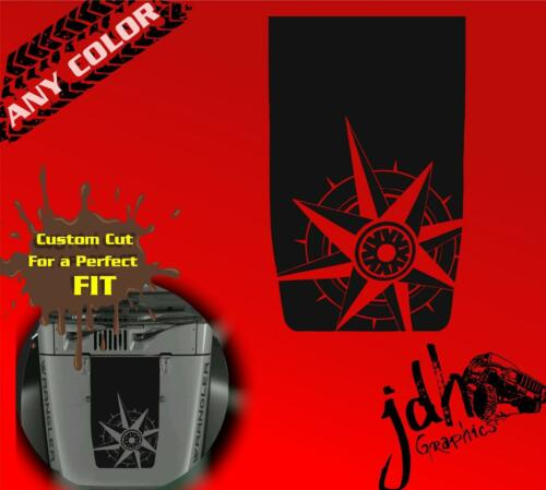 Jeep Wrangler Hood Black Out Vinyl Decal Sticker Compass Offroad