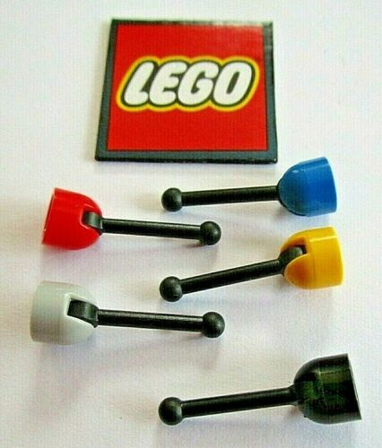 Minifigure Antenna Gear Stick Design 73587 Pack of 4 LEGO Base with Lever