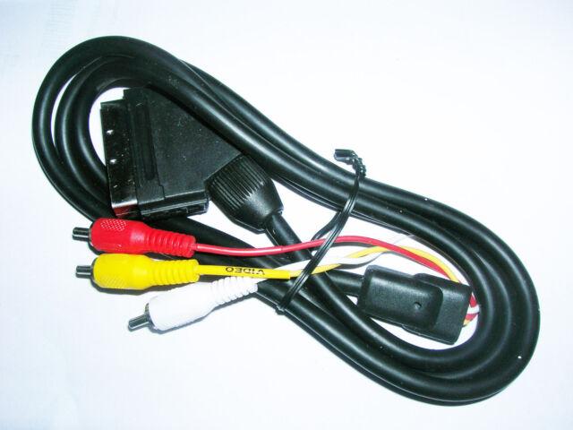 New 1.5m Metre Scart to 3 x RCA Triple Phono AV Audio Video Lead Cable