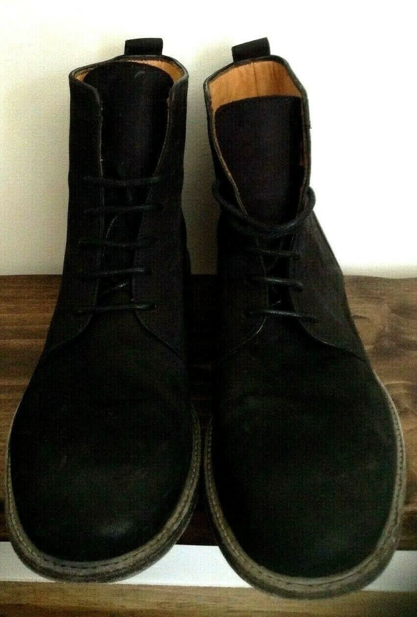 The Last Conspiracy Black Suede Leather Laced Boots EU Size 41 / UK 7