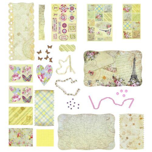 Make 2 Books Arts /& Crafts Photo Scrap Book Card Mini Book Creation Design Kit