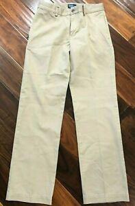 Polo-Ralph-Lauren-Boys-Size-12-Beige-Chino-Flat-Front-Straight-Legs-Pants-EUC