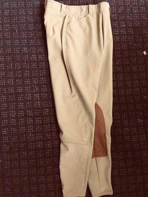ARIAT Ladies BREECHES Sz 22 Regular KHAKI New  82% Nylon  Side zip