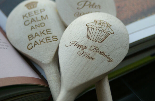 Personalised Engraved Wooden Spoon ,Birthday, Mum, Chef ,Engraved
