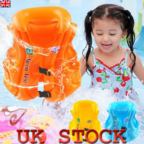 UK Baby Kid Toddler Inflatable Buoyancy Swimming Float Suit Safety Swimwear Vest