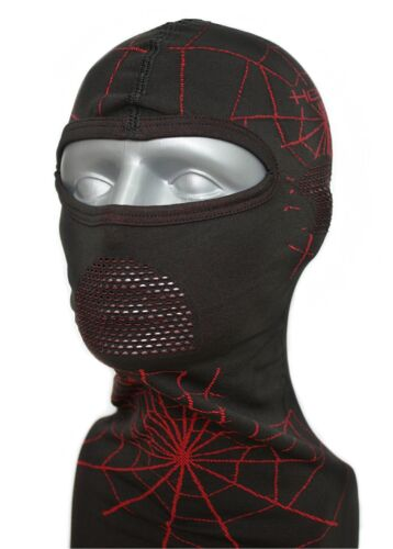 Motorcycle Balaclava Spider Sw Red Stable and Antibacterial with Dryarn held