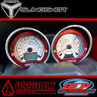 2015 - 2016 Polaris Slingshot Red Gauge Bezel Trim Kit By Assault Industries