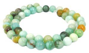 Amazonit-multicolor-Kugeln-4-6-amp-8-mm-Edelstein-Perlen-Strang-fuer-Kette