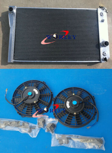 3 ROW ALUMINUM RACING RADIATOR+FANS for 84-90 CHEVY CORVETTE 5.7L L83//S10 V8
