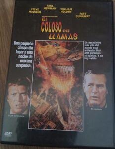 DVD EL COLOSO EN LLAMAS (PAUL NEWMAN & STEVE MCQUEEN), SEMINUEVO !!!
