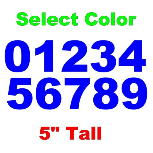"""Select Color DIY Sign Car Dealer 0-9 Numbers 1x Set Vinyl Decals 5/"""" Inches"""