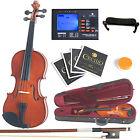 Mendini Solidwood Violin 3/4 Size +Tuner+Shdrest+2 set Strings+Case ~3/4MV200