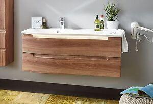Details zu Design- Waschtisch BRIO 121 cm mit Unterschrank 2 Auszüge viele  Farben von PURIS