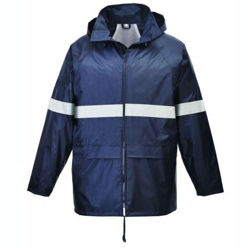 3XL Iona Classic Rain Jacket Coat Waterproof Taped Seams Reflective Workwear S