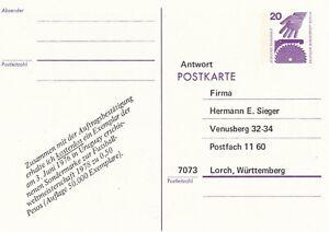 Berlin 20pfg Jederzeit Sicherheit Postal Stationary Reply Carte Carte Postale Utilisé-afficher Le Titre D'origine Pour ExpéDition Rapide