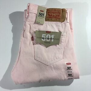 LEVI-S-501-93-Straight-Denim-Jeans-Regular-Men-s-Size-30-x-34-Pink-NEW-NWT