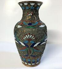 A Lovely Russian Cloisonne Enamel & Copper Small Vase