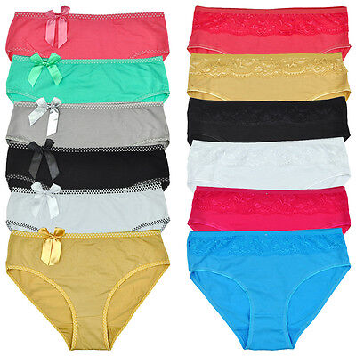 Pack 5 PCS Two Styles Womens Briefs Multi Color Panties Lady Knickers Underwear