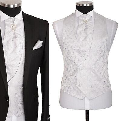 Herren Weste Hochzeitsweste Anzugsweste Bräutigam Grau Silber Slim Fit 4tlg | eBay