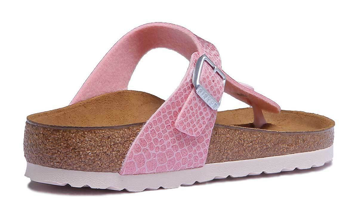 Birkenstock Gizeh Women Birko Flor Magic Snake Women Gizeh Rose Sandals Size UK 3 - 8 af5a4d