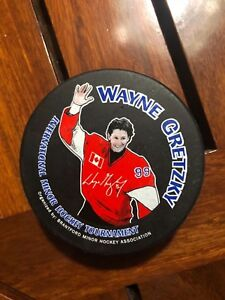 Sports Mem, Cards & Fan Shop Nhl Wayne Gretzky Hockey Puck International Minor Hockey Tournament