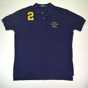 vtg-Polo-Ralph-Lauren-RLPC-est-1967-Mallett-Crest-Shirt-Sz-XL-Slim-Embroidered