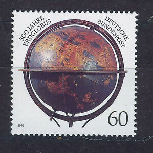 ALEMANIA-RFA-WEST-GERMANY-1992-MNH-SC-1759-Firts-globe-by-Martin-Behaim