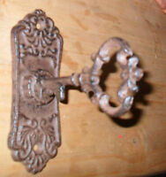 Large Victorian Cast Iron 'key' Handles Drawer Pulls Knobs -sold Individually