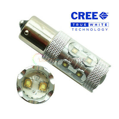 2x 50W PURE WHITE CREE LED PY21W 581 BAU15S CANBUS ERROR FREE DRL REVERSE LIGHT