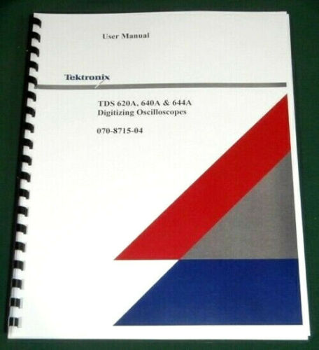 Comb Bound /& Plastic Covers Tektronix TDS 620A TDS 640A TDS 644A User Manual
