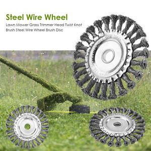 Lawn-Mower-Grass-Trimmer-Head-Twist-Knot-Brush-Steel-Wire-Wheel-Brush-Disc-KIts
