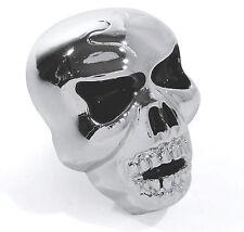 XL Totenkopf Skull Metall Kennzeichen Schrauben big Chrom schwarz Chopper Custom