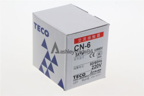 1PCS New TECO CN-6 220VAC Magnetic Contactors