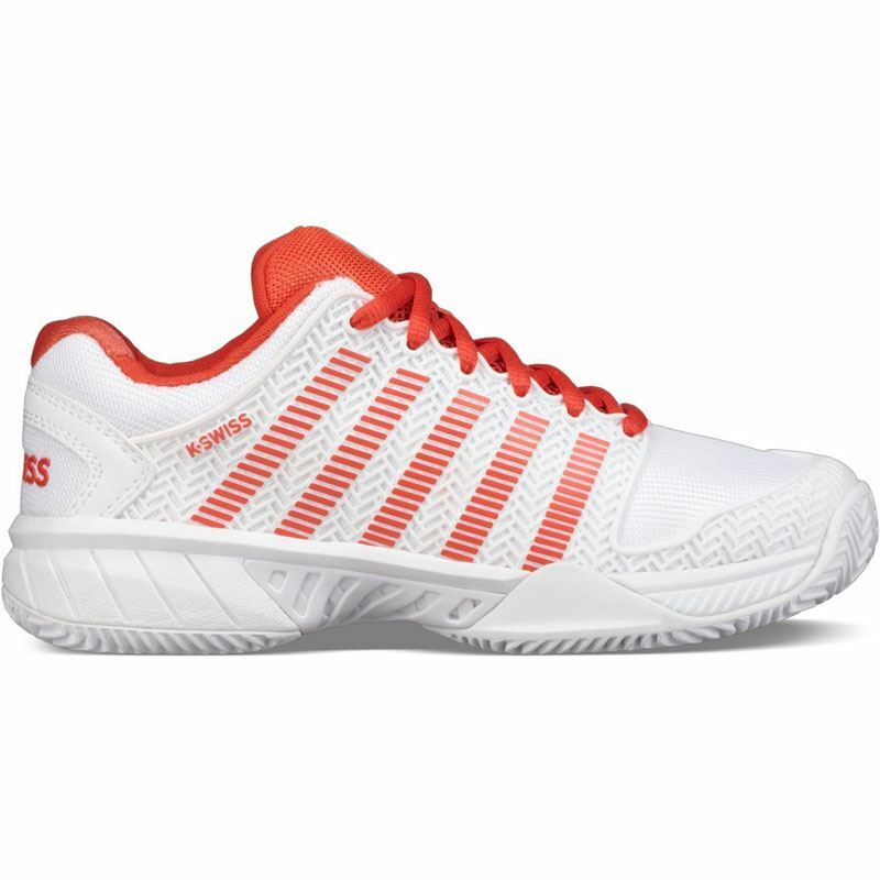 K-Swiss Womens Hypercourt Express HB Tennis shoes (White Fiesta) - 93378-182-M