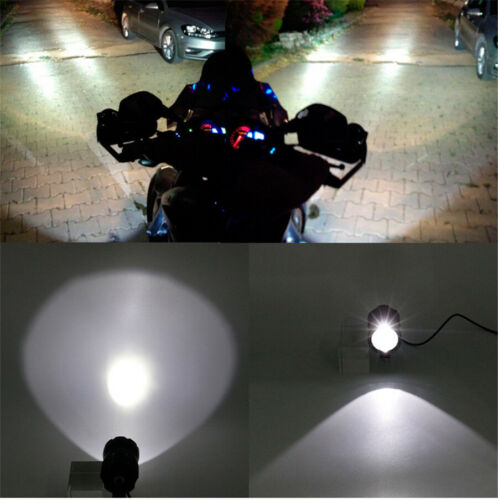2x High Power LED Motorcycle Dirt Bike Fog Spot Light Waterproof w// Cable Switch