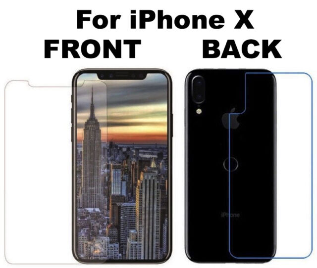 Front And Back 100% Tempered Glass 360 Screen Protector For Apple iPhone X Phone