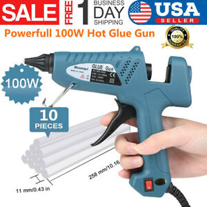 Details about Hot 100W Glue Gun for Industrial / Home High Temperature with  10 Pcs Glue Sticks